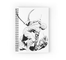 Cyborg Ninja (Black Opaque) Spiral Notebook