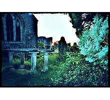 as the sun sets my grave awakes Photographic Print