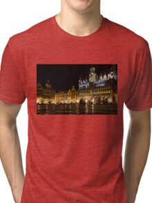 Brussels - the Magnificent Grand Place at Night Tri-blend T-Shirt