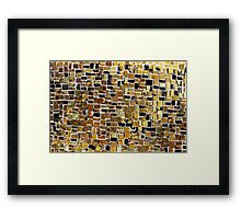 Gold mosaic background Framed Print