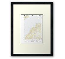 Massachusetts  USGS Historical Topo Map MA Vineyard Haven 20120606 TM Framed Print