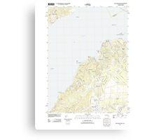 Massachusetts  USGS Historical Topo Map MA Vineyard Haven 20120606 TM Canvas Print