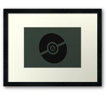 Pokemon Pokeball Rock Framed Print
