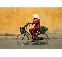 Returning from the market, Vietnam Photographic Print