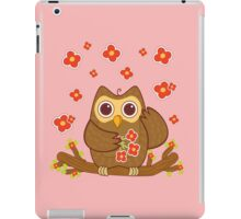Flower Owl .. tee shirt iPad Case/Skin