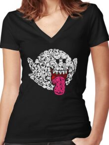 Boo - Never Look Away Women's Fitted V-Neck T-Shirt