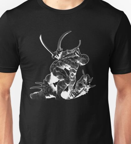 Cyborg Ninja (White Opaque) Unisex T-Shirt
