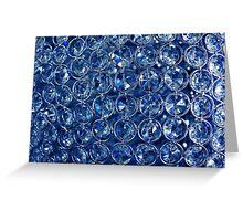 Blue diamonds Greeting Card