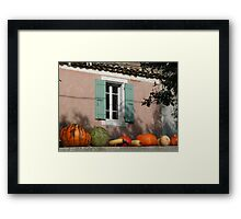 Autumn in Provence Framed Print