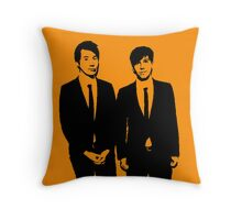 Dan and Phil suits Throw Pillow