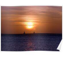 ''Sun setting sail'' Poster