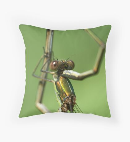 Hold me (emerald couple) Throw Pillow