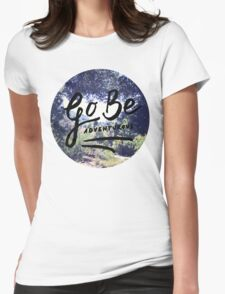 Vintage Camping Adventure Wanderlust Typography Photo Womens Fitted T-Shirt