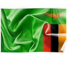 Zambia Flag Poster