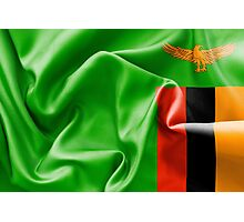 Zambia Flag Photographic Print