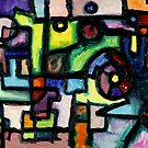 Like Clockwork, abstract oil on canvas by Regina Valluzzi