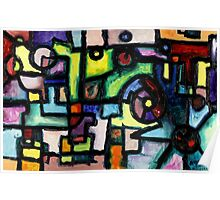 Like Clockwork, abstract oil on canvas Poster