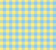 Yellow and Blue Tartan by Ely Prosser