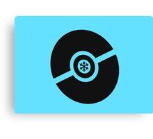 Pokemon Pokeball Ice Canvas Print