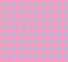 Pink and Blue Tartan by Ely Prosser