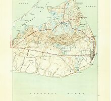 Massachusetts  USGS Historical Topo Map MA Siasconset 352178 1945 31680 by wetdryvac