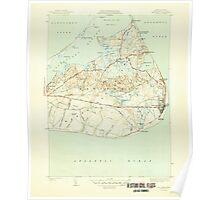 Massachusetts  USGS Historical Topo Map MA Siasconset 352178 1945 31680 Poster