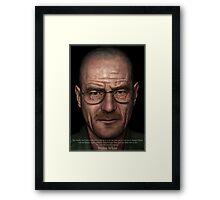 Walter White Framed Print