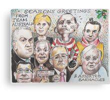 Team Australia - End of year greetings 2014  Canvas Print