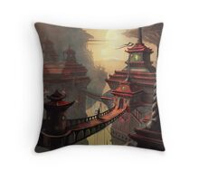 High Mountain Temples Throw Pillow