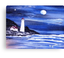 And Even The Darkest Nights.................I'll be There. Canvas Print