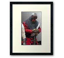 Prayer of a Knight  Framed Print