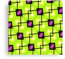 Trendy Neon Graphic Geometric Fashion Canvas Print