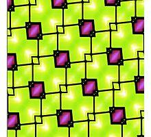 Trendy Neon Graphic Geometric Fashion Photographic Print