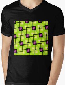 Trendy Neon Graphic Geometric Fashion Mens V-Neck T-Shirt