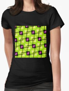 Trendy Neon Graphic Geometric Fashion Womens Fitted T-Shirt