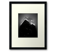 Empire State Building by night Framed Print