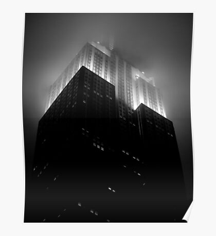 Empire State Building by night Poster