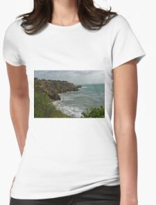 Coastal view. Womens Fitted T-Shirt