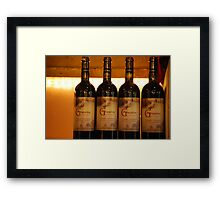 Want some Cheese With That Wine? Framed Print