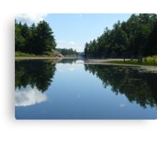 Mirror Image - Killarney Lake Ontario Canvas Print