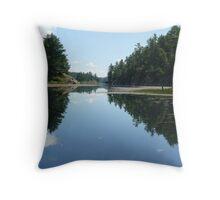 Mirror Image - Killarney Lake Ontario Throw Pillow