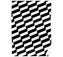 Black And White Trendy Fashion Accessory  Poster