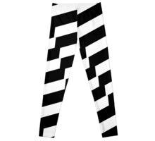 Black And White Trendy Fashion Accessory  Leggings