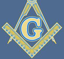 Freemason Logo: Yellow and Blue by JoCa-byJoeCarr