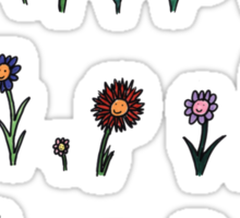 A happy flower garden just for you Sticker