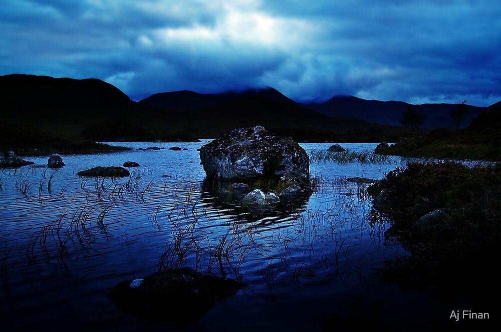 Dusk At Rannoch Moor. by Aj Finan