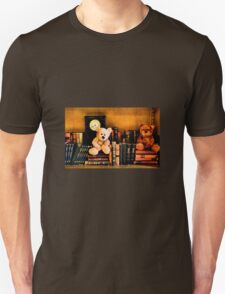 The old library with grumpy bears Unisex T-Shirt