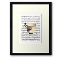 Episodes Chipped Cup Framed Print