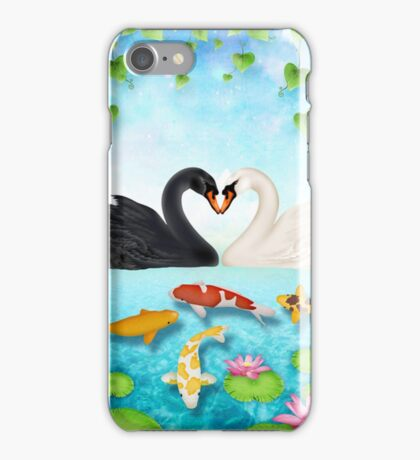 Heart of swans #6 iPhone Case/Skin