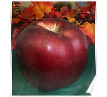 big red apple Poster